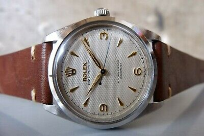 $ CDN4123.50 • Buy Vintage 1953 ROLEX Oyster Perpetual Big Bubbleback 6298 SS 35mm Automatic 50s