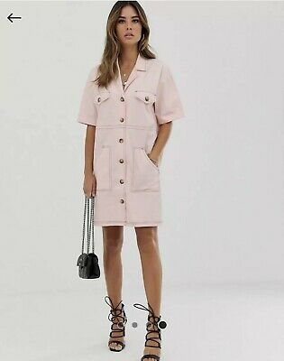 AU10 • Buy ASOS Pink Shirt Dress