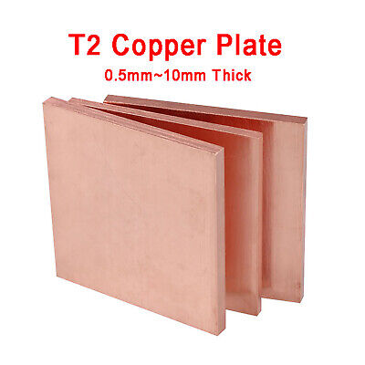 £39.95 • Buy T2 Copper Sheet Metal Plate 0.5/1/2/3/4/5/10mm Thick Optional- Can Be Customized