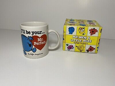 £8.99 • Buy Vintage Mr Men Mr Perfect Ceramic Mug Cup 1997 By Roger Hargreaves With Box