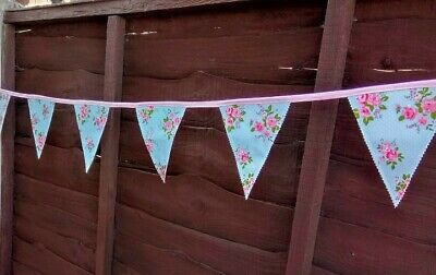 £7.99 • Buy 🌴 Handmade Floral 6ft Double Sided Pvc Bunting Garden Vintage Shabby🌺