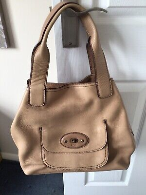 Genuine Ugg Leather Camel Colour Handbag - Hardly Used With Dust Cover Bag • 20£