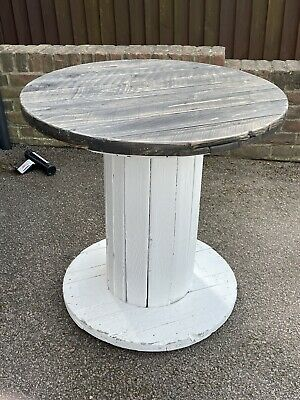 Upcycled Shabby Chic Cable Drum Wedding Cake Table  • 10£