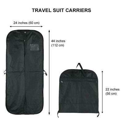 £8.49 • Buy WEDCOVA Black Breathable Suit Travel Carrier Personalise Dress Cover Garment Bag