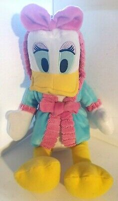 Daisy Duck Disney Wearing Dressing Gown Mickey Mouse Clubhouse Soft Toy • 12.89£