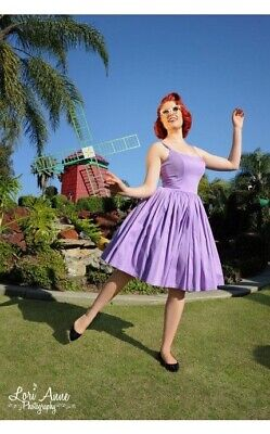AU178.41 • Buy Pinup Couture Jenny Dress In Lilac Satine S Pinup Girl Clothing EUC VINTAGE