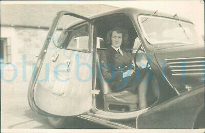 £15 • Buy Post WW2 HMS Peewit WRNS Woman's Photo Author East Haven  Sat In Car 1946