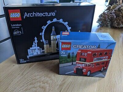 $ CDN76.86 • Buy LEGO Architecture London 21034 & Double Decker Bus RETIRED 40220 NEW SEALED LOT
