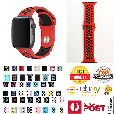 AU6.99 • Buy Silicone Nike Sport Strap Apple Watch Band 38/40/42/44mm For Series SE 6 5 4321