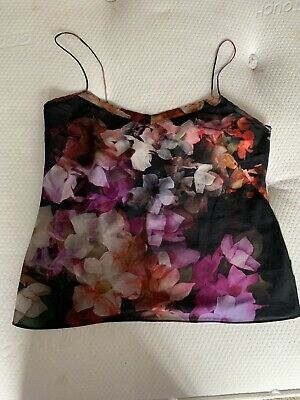Ted Baker Black Secret Trellis Cami Top Size L • 3.20£