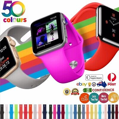 AU5.99 • Buy Silicone Strap Iwatch Band Compatible For Apple Watch Band Series 6 5 4 3 2 1