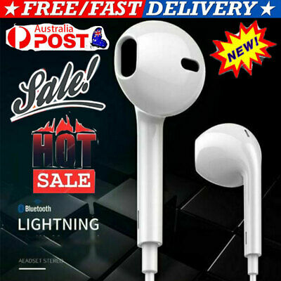 AU11.99 • Buy Headphones Mic Wired Bluetooth 8pin Earphones For Apple IPhone 12/11/8/7/X/Xs/XR