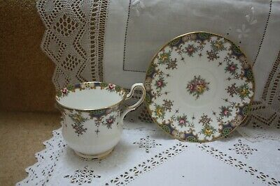 £7 • Buy Queens Rosina China Tea Cup & Saucer Pink Blue Yellow Floral  Excellent 49