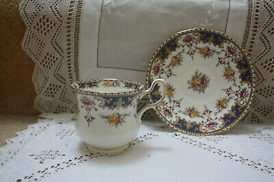 £7 • Buy Queens Rosina China Tea Cup & Saucer Pink Blue Yellow Floral  Excellent 42