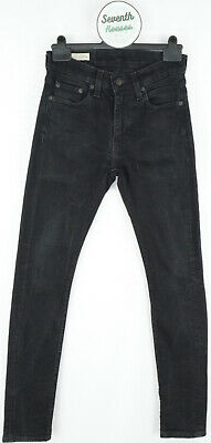 £31 • Buy LEVIS Premium 519 Men's Extreme Skinny Fitted Black Stretch Jeans W28 L32