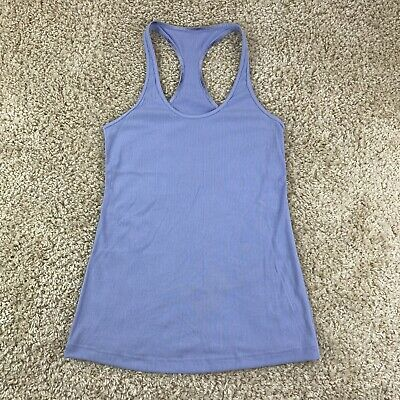$ CDN39.29 • Buy Lululemon Womens Size 4? Solid Purple Racerback Ribbed Tank Top Athletic
