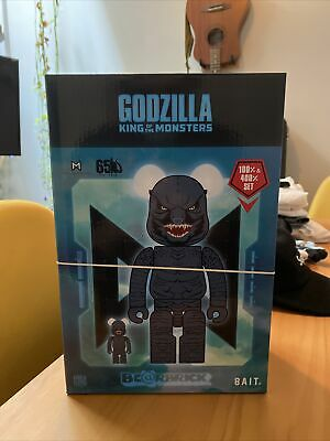 $250 • Buy SDCC 50 2019 Exclusive BAIT Bearbrick Godzilla King Of Monsters 400% & 100% New