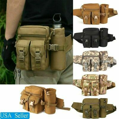 $13.59 • Buy Outdoor Utility Tactical Waist Fanny Pack Pouch Military Camping Hiking Belt Bag