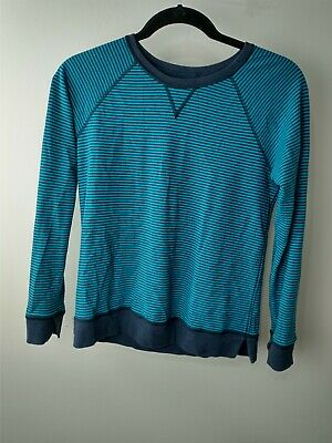 $ CDN66.72 • Buy 12 Lululemon Open Your Heart Long Sleeve II Reversible Heathered Blue Stripe