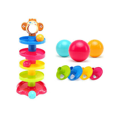 £11.76 • Buy Ball Drop And Roll Swirling Tower Shape Sorter For Baby-Education Toy V2N4