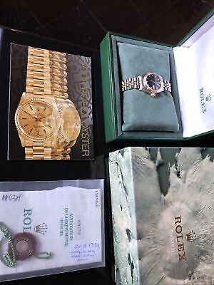 AU9999 • Buy Rolex Datejust 18k Yellow Gold & SS Jubilee Rolex Diamond Dial. Serviced  2021