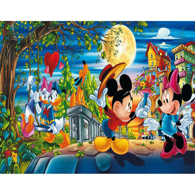 AU15.99 • Buy Diamond Painting Full Drill DIY Mickey And Minnie Cartoon Kits Art Embroidery