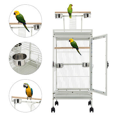 Bird Cage Parrot Finch Macaw Conure Pet Supply Play Top Stand Perch New • 104.95£