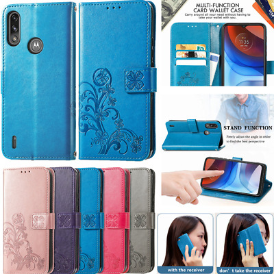 AU11.99 • Buy Case Magnetic Leather Wallet Cover For Moto E7 G7 Power G8 G9 Plus Play E6 G Pro