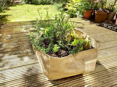 £4.99 • Buy VEG GROW BAGS    Grow Your Own Vegetables And Salads At Home   HESIAN PLANTER