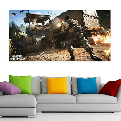 £14.99 • Buy Call Of Duty: Black Ops Cold War 1 Gaming XBOX PS4 FRAMED WALL ART CANVAS PRINT