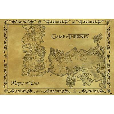 £8.59 • Buy Game Of Thrones Antique Map Poster TA343