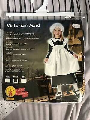 $18.06 • Buy Girl's Victorian Maid Fancy Dress Costume Tudor Child Edwardian Outfit 5-6 Years