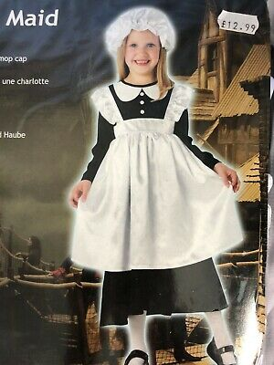$18.05 • Buy VICTORIAN MAID FANCY DRESS COSTUME SIZE: Large 7-8 Years Dress, Mop Cap