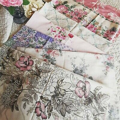 Vintage Remnants Reclaimed Fabric Sanderson Cabbage Rose Laura Ashley Sewing P 8 • 26£