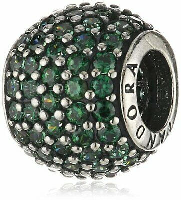 AU32.18 • Buy *Pair Of Pandora Sterling Silver Dark Green Pave Lights Charms #791051CZN