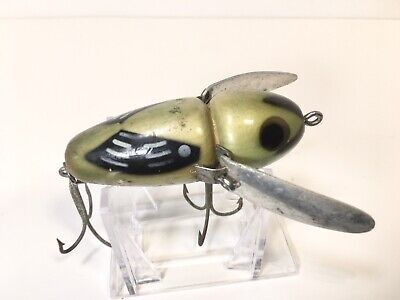 $ CDN43.53 • Buy Heddon Crazy Crawler Lure Antique Vintage Early Wood 2100 Old Glow Worm Fishing