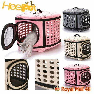 £15.99 • Buy Dog Cat Carrier Crate Cage Portable Collapsible Pet Travel Hand Bag UK
