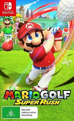 AU74.95 • Buy Mario Golf Super Rush Switch Game NEW PREORDER 25/6