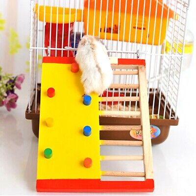 £5.58 • Buy Natural Wooden Hamster Climbing Toy Hamster Ladder Small Pet Toy