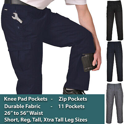 £20.49 • Buy Portwest Work Trousers Pants Knee Pad Pockets *26  To 56  WAIST, 4 LEG SIZES*