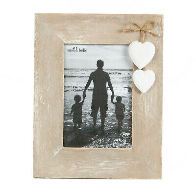 £5.45 • Buy Sass & Belle Natural Wood Standing Photo Frame Holder Reduced To Clear Heart374