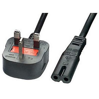 £4.49 • Buy 1m Figure Of 8 Mains Cable / Power UK Lead Plug Cord IEC C7 Fig For Laptop Etc
