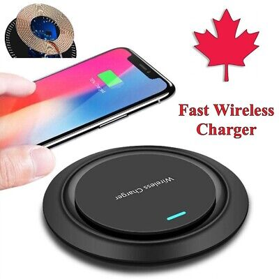 $ CDN7.95 • Buy Fast Wireless Charging Pad Qi Charger For S21 S20 FE S10 S9 S8 IPhone 11 12 XR 8
