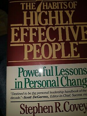 AU2.55 • Buy The 7 Habits Of Highly Effective People - Paperback By Covey, Stephen R. - GOOD