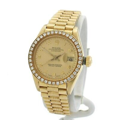 AU5024.15 • Buy Rolex President Datejust 69018 18k Solid Gold Diamond Ladies Wristwatwatch1901-1
