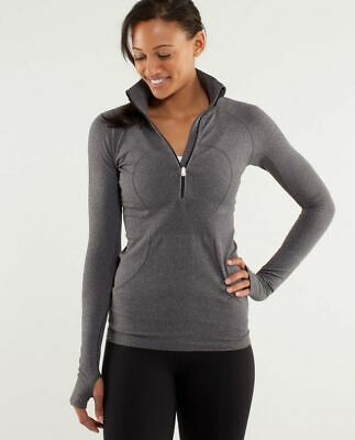 $ CDN54.59 • Buy Lululemon 1/2 Zip Long Sleeve Swiftly Tech Top Heathered Gray Size 4