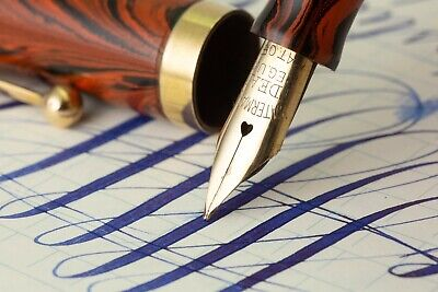 AU508.73 • Buy Waterman 52 Red Ripple Flexible Extra Fine To Double Broad