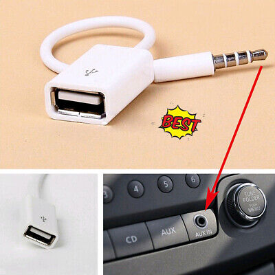 $3.30 • Buy 1Pc White Car SUV 3.5mm AUX Audio Music Interface Adapter Cable AMI MMI MDI PVC