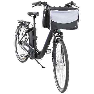 £46.46 • Buy TRIXIE Front Bicycle Basket For Pet Black And Grey Dog Cat Bike Carrier Box