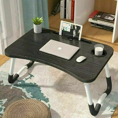 £11.19 • Buy Folding Laptop Bed Tray Table Portable Lap Desk Notebook Breakfast Cup Slot
